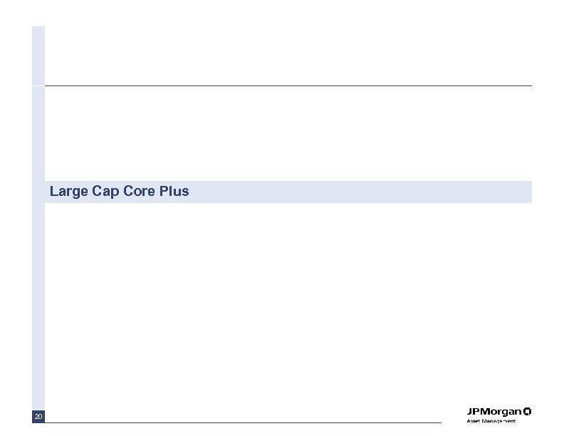 Large Cap Core Plus 20