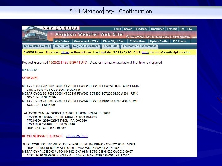 5. 11 Meteorology - Confirmation
