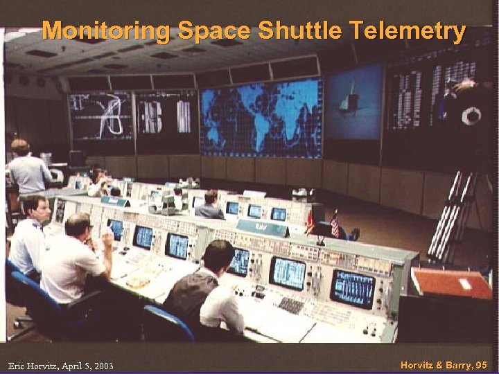 Monitoring Space Shuttle Telemetry Eric Horvitz, April 5, 2003 Horvitz & Barry, 95