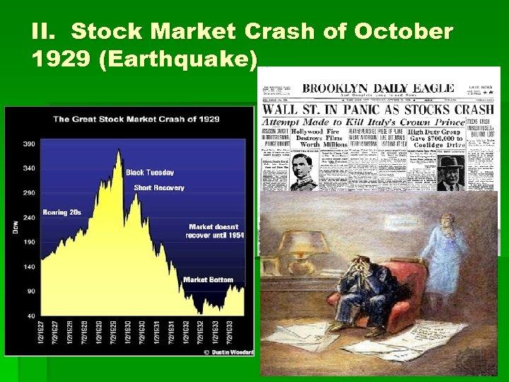 II. Stock Market Crash of October 1929 (Earthquake)