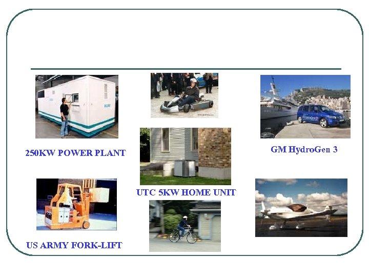 GM Hydro. Gen 3 250 KW POWER PLANT UTC 5 KW HOME UNIT US