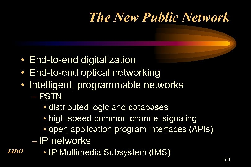 The New Public Network • End-to-end digitalization • End-to-end optical networking • Intelligent, programmable