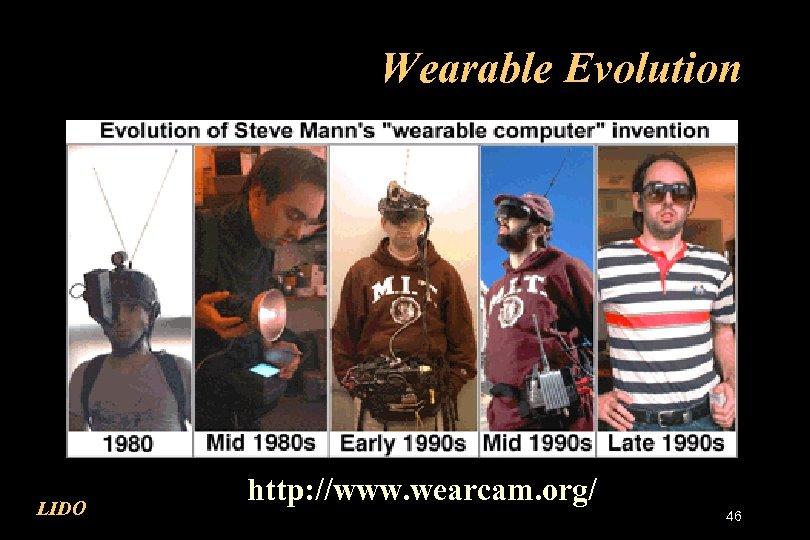 Wearable Evolution LIDO http: //www. wearcam. org/ 46