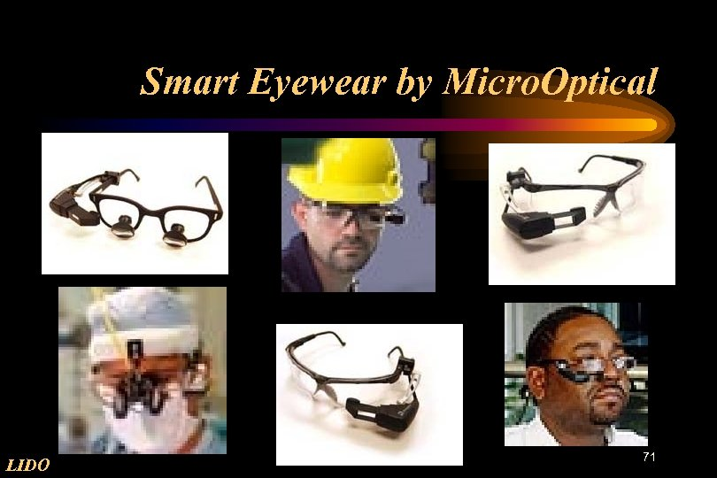 Smart Eyewear by Micro. Optical LIDO 71