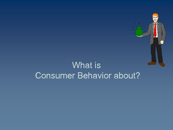 What is Consumer Behavior about?