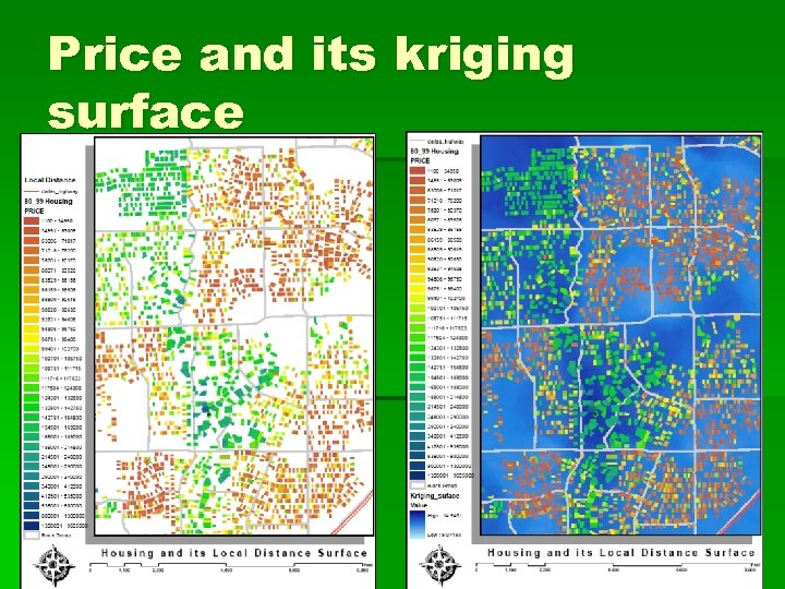 Price and its kriging surface