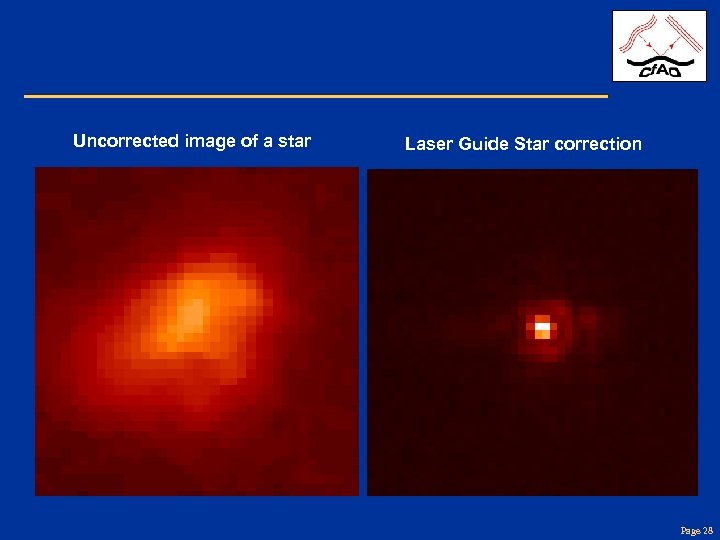 Uncorrected image of a star Laser Guide Star correction Page 28