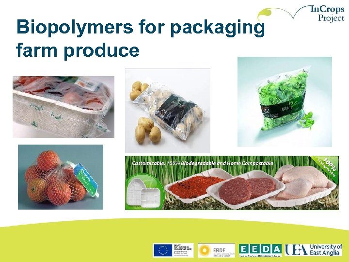 Biopolymers for packaging farm produce