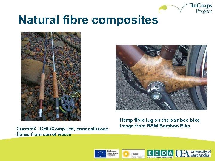 Natural fibre composites Curran® , Cellu. Comp Ltd, nanocellulose fibres from carrot waste Hemp