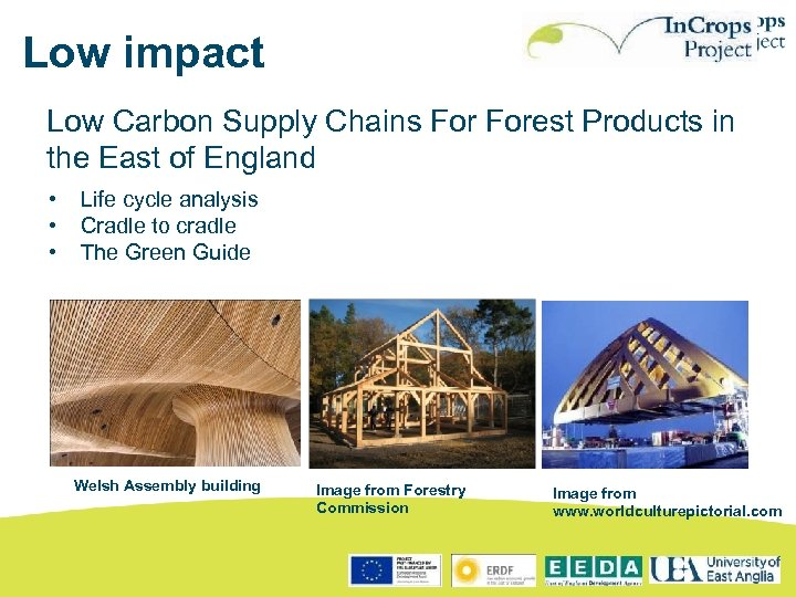 Low impact Low Carbon Supply Chains Forest Products in the East of England •