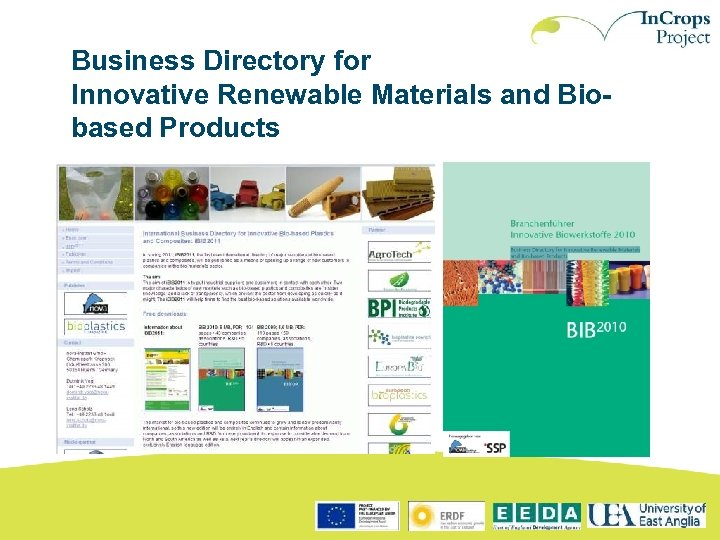 Business Directory for Innovative Renewable Materials and Biobased Products