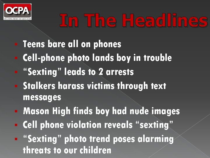 In The Headlines § § § § Teens bare all on phones Cell-phone photo