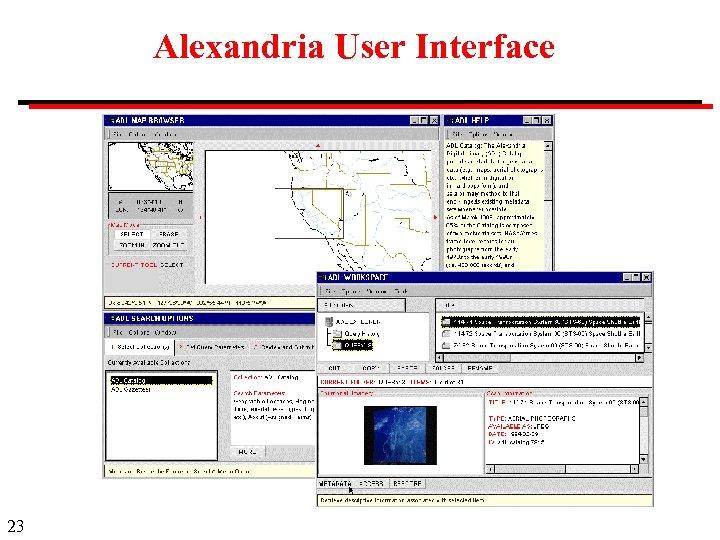 Alexandria User Interface 23