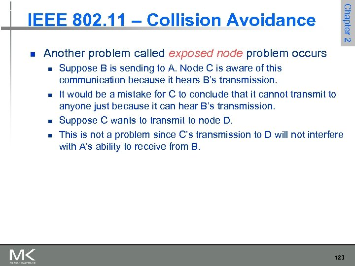 n Chapter 2 IEEE 802. 11 – Collision Avoidance Another problem called exposed node