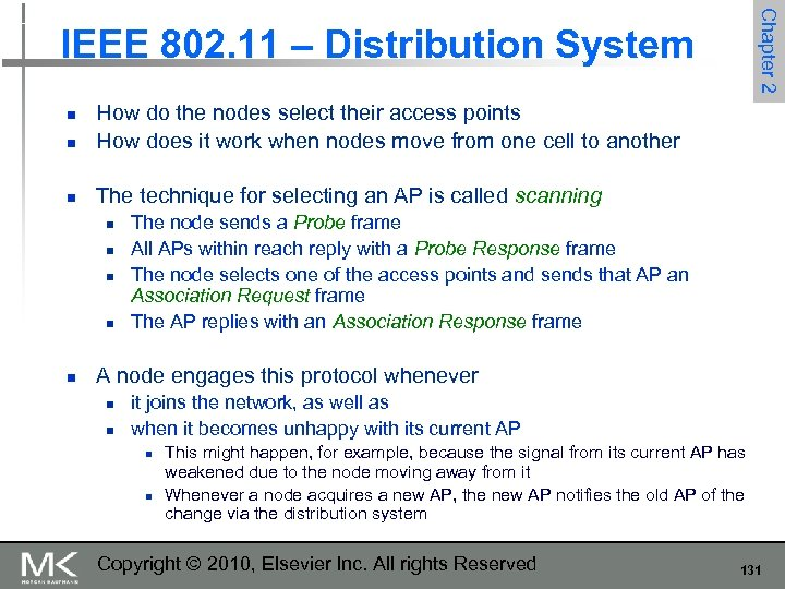 Chapter 2 IEEE 802. 11 – Distribution System n How do the nodes select