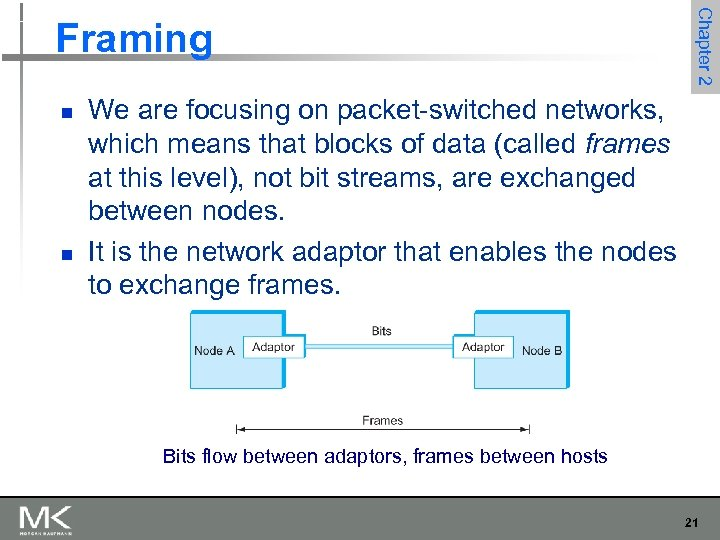 n n Chapter 2 Framing We are focusing on packet-switched networks, which means that