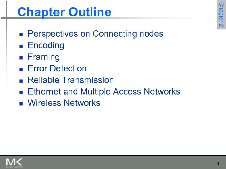 n n n n Chapter 2 Chapter Outline Perspectives on Connecting nodes Encoding Framing
