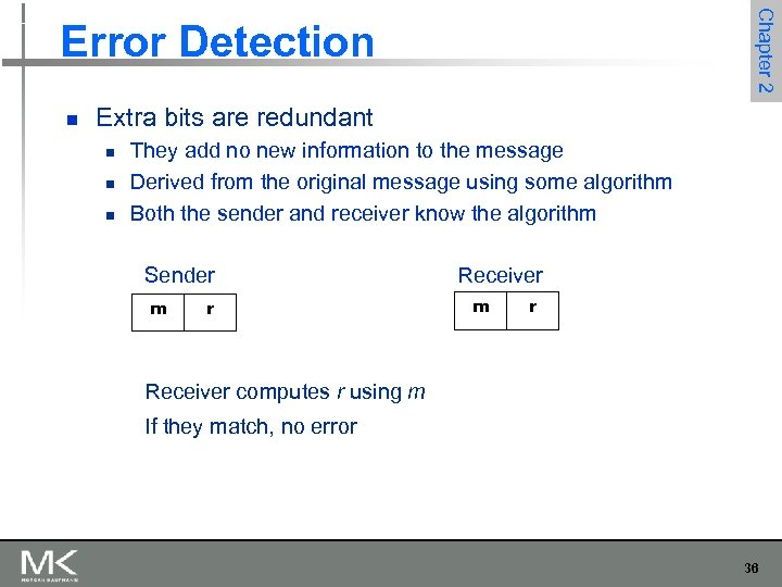 Chapter 2 Error Detection n Extra bits are redundant n n n They add