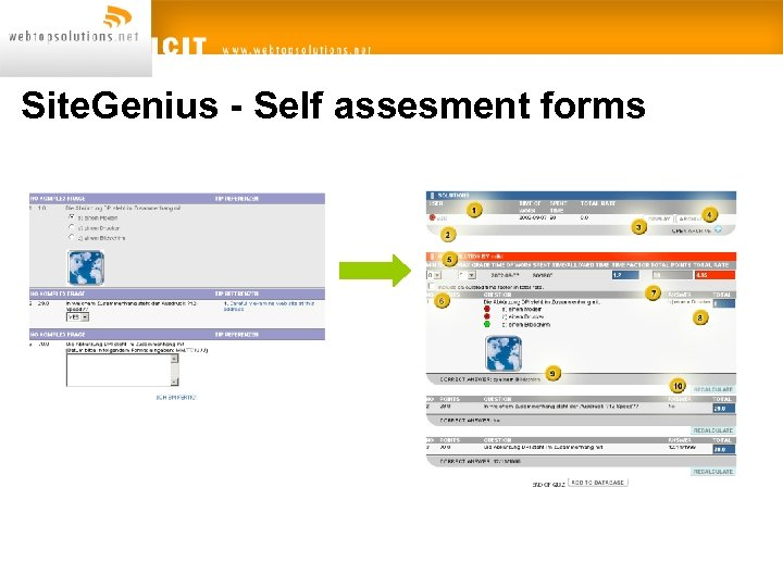 Site. Genius - Self assesment forms