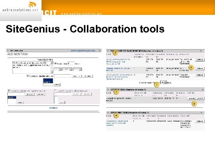 Site. Genius - Collaboration tools