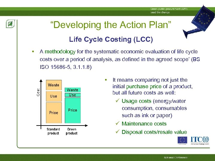 """""""Developing the Action Plan"""" Life Cycle Costing (LCC) A methodology for the systematic economic"""