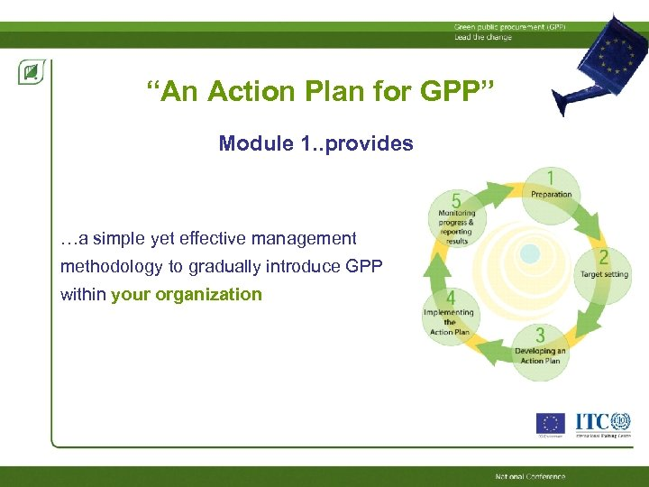"""An Action Plan for GPP"" Module 1. . provides …a simple yet effective management"