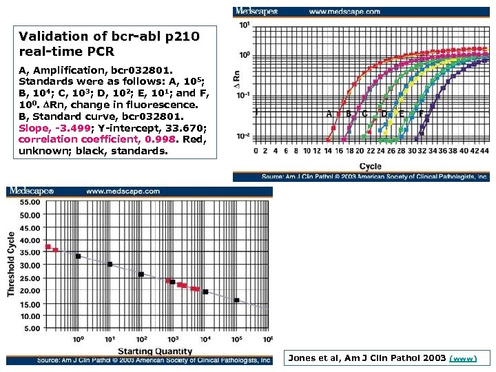 Validation of bcr abl p 210 real time PCR A, Amplification, bcr 032801. Standards