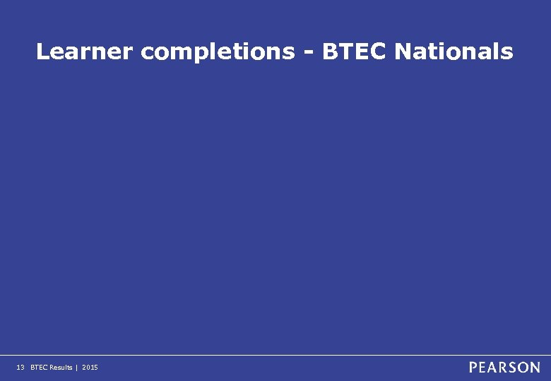 Learner completions - BTEC Nationals 13 BTEC Results | 2015