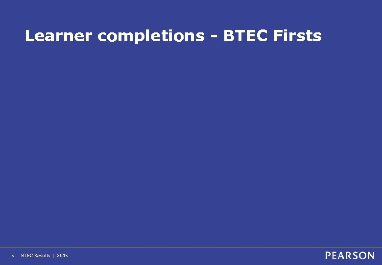 Learner completions - BTEC Firsts 5 BTEC Results | 2015