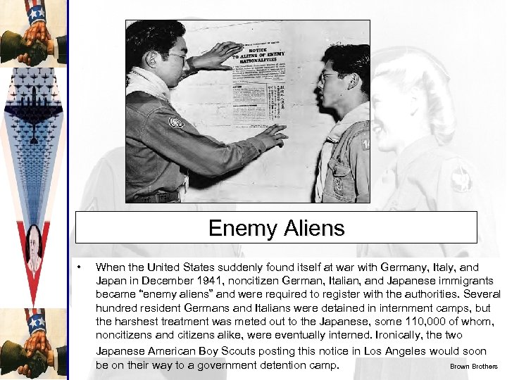 Enemy Aliens • When the United States suddenly found itself at war with Germany,