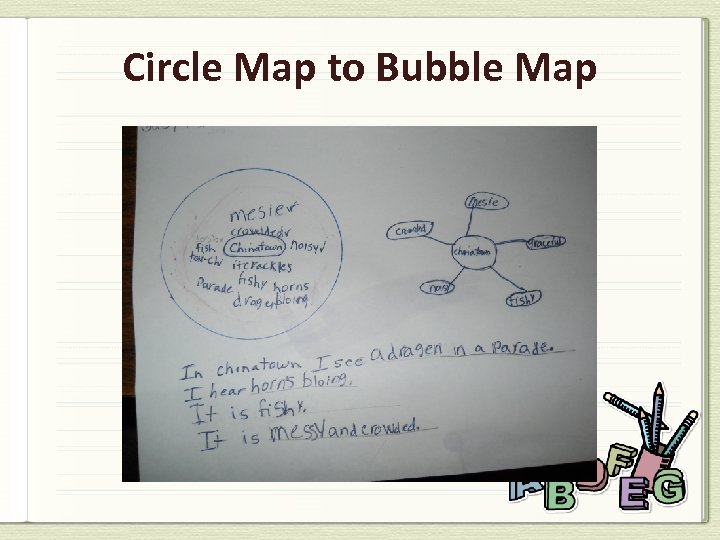 Circle Map to Bubble Map