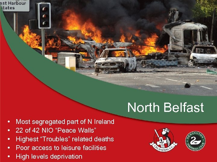 North Belfast • • • Most segregated part of N Ireland 22 of 42