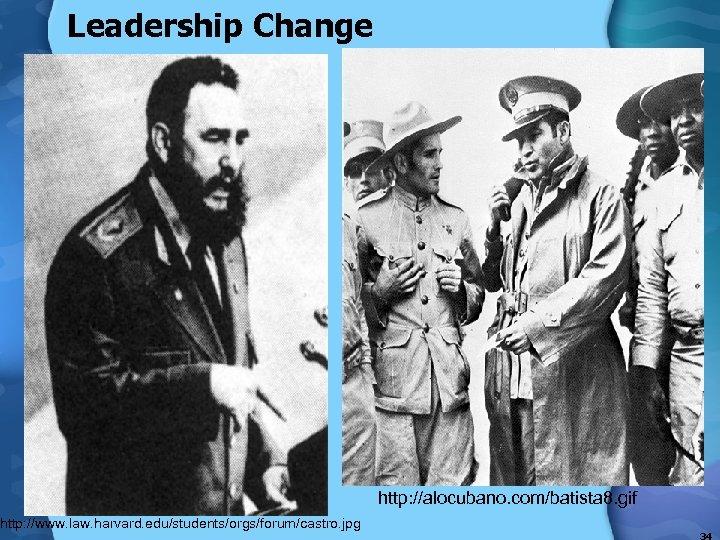 Leadership Change http: //www. law. harvard. edu/students/orgs/forum/castro. jpg http: //alocubano. com/batista 8. gif