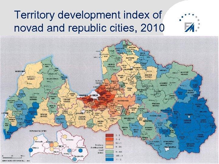 Territory development index of novad and republic cities, 2010 10