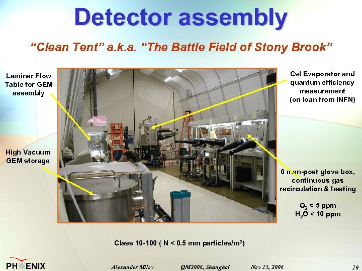 "Detector assembly ""Clean Tent"" a. k. a. ""The Battle Field of Stony Brook"" Cs."