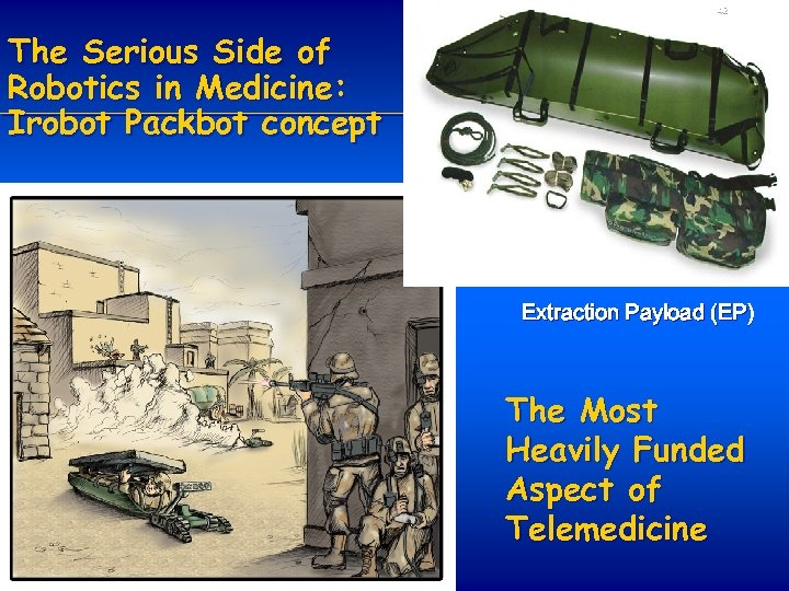 42 The Serious Side of Robotics in Medicine: Irobot Packbot concept Extraction Payload (EP)