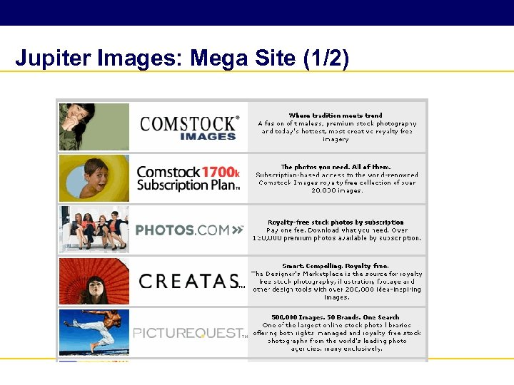 Jupiter Images: Mega Site (1/2)