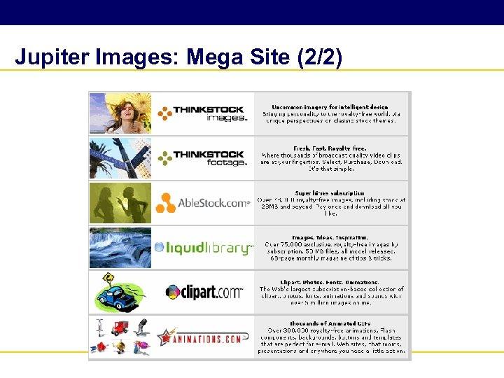 Jupiter Images: Mega Site (2/2)