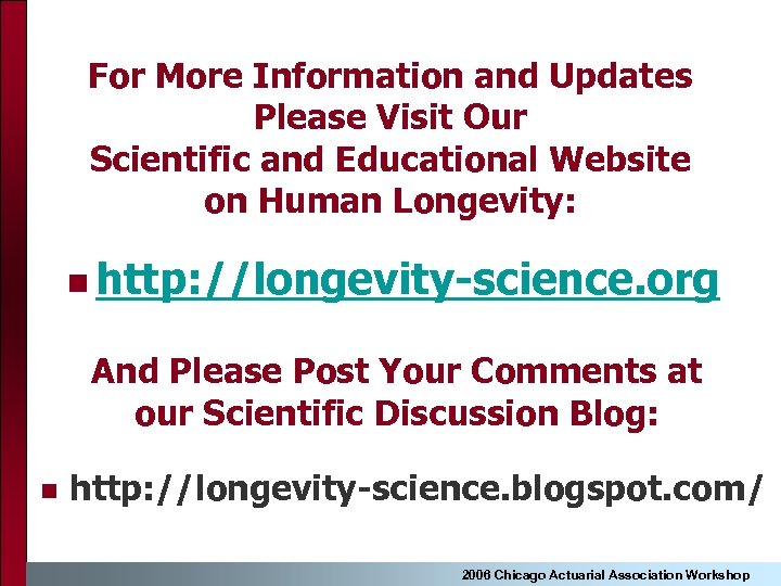 For More Information and Updates Please Visit Our Scientific and Educational Website on Human