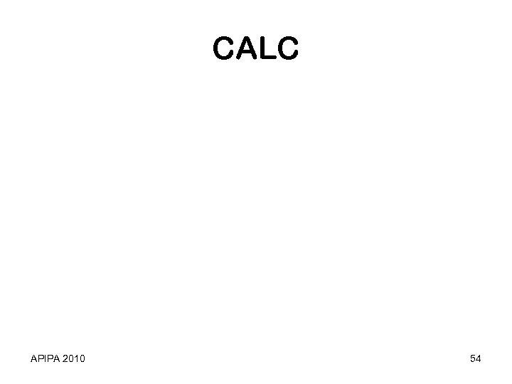 CALC APIPA 2010 54