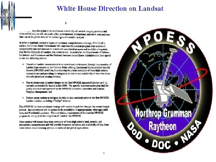 White House Direction on Landsat