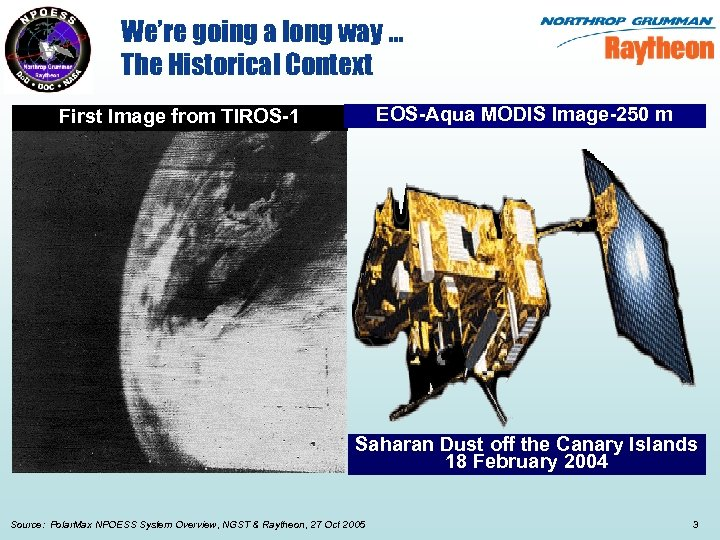 We're going a long way … The Historical Context EOS-Aqua MODIS Image-250 m First