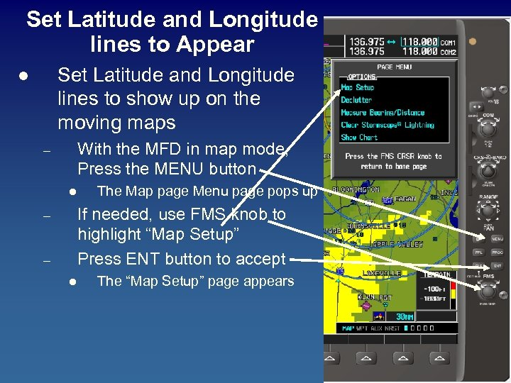 Set Latitude and Longitude lines to Appear Set Latitude and Longitude lines to show