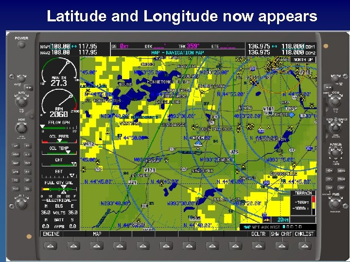 Latitude and Longitude now appears