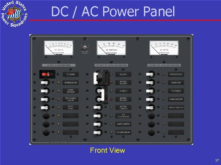 DC / AC Power Panel Front View 37