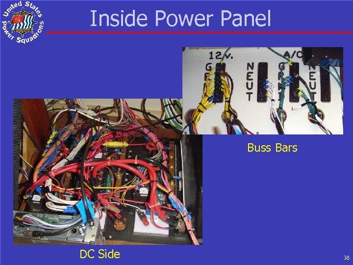 Inside Power Panel Buss Bars DC Side 38