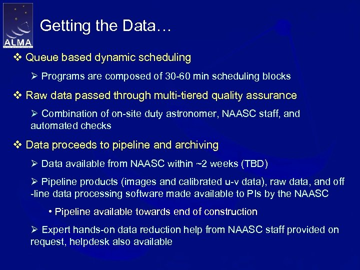 Getting the Data… v Queue based dynamic scheduling Ø Programs are composed of 30