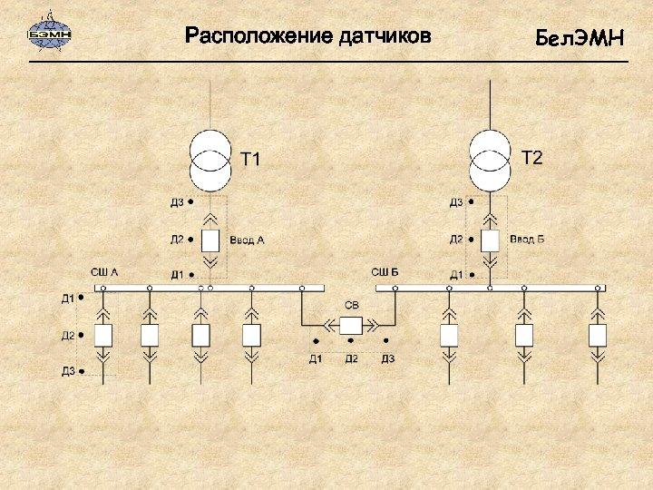 Расположение датчиков Бел. ЭМН