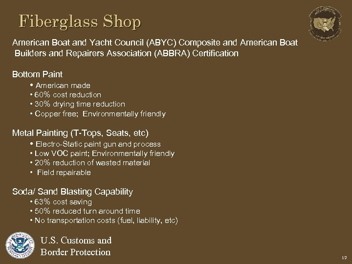 Fiberglass Shop American Boat and Yacht Council (ABYC) Composite and American Boat Builders and