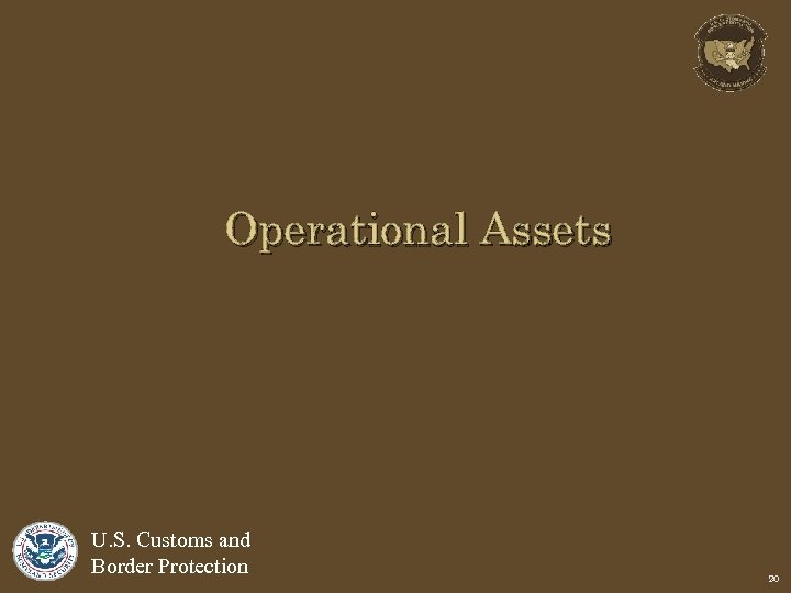 Operational Assets U. S. Customs and Border Protection 20